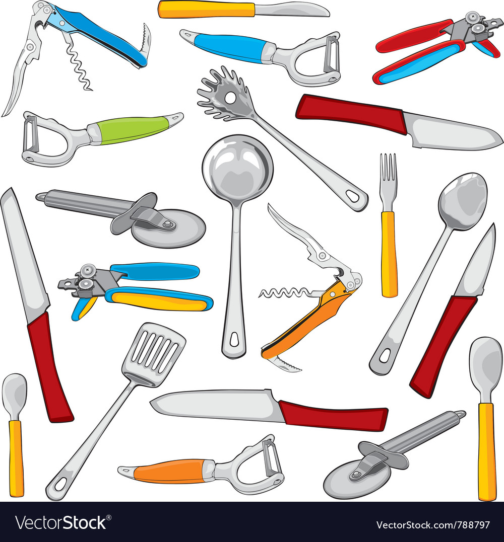 Kitchen items vector | Price: 3 Credit (USD $3)