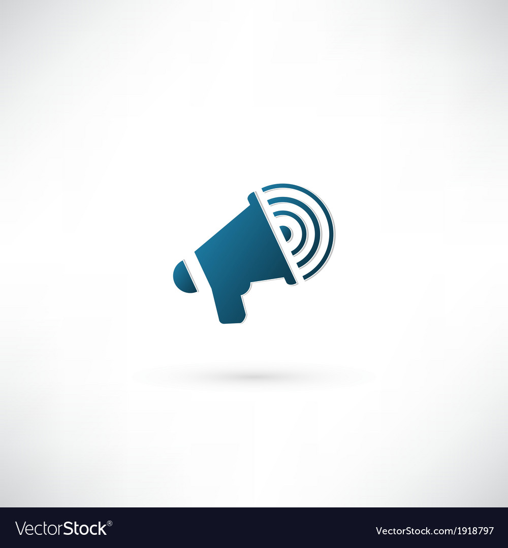 Megaphone icon vector | Price: 1 Credit (USD $1)