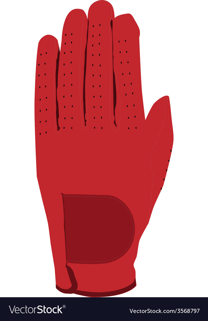 Red glove vector | Price: 1 Credit (USD $1)