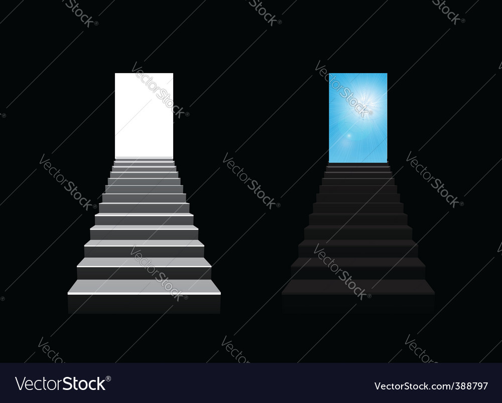 Staircase illustration vector | Price: 3 Credit (USD $3)