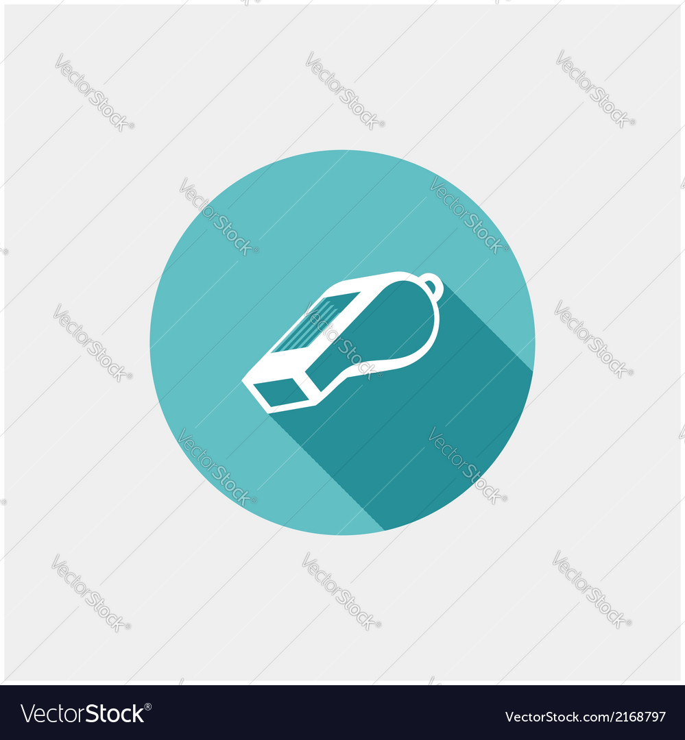 Whistle flat icon vector | Price: 1 Credit (USD $1)