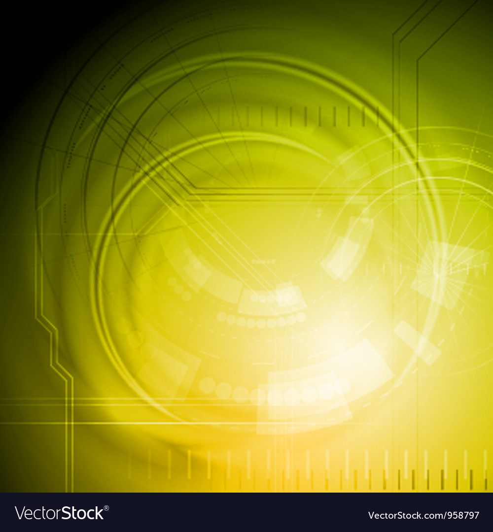 Yellow technology backdrop vector | Price: 1 Credit (USD $1)