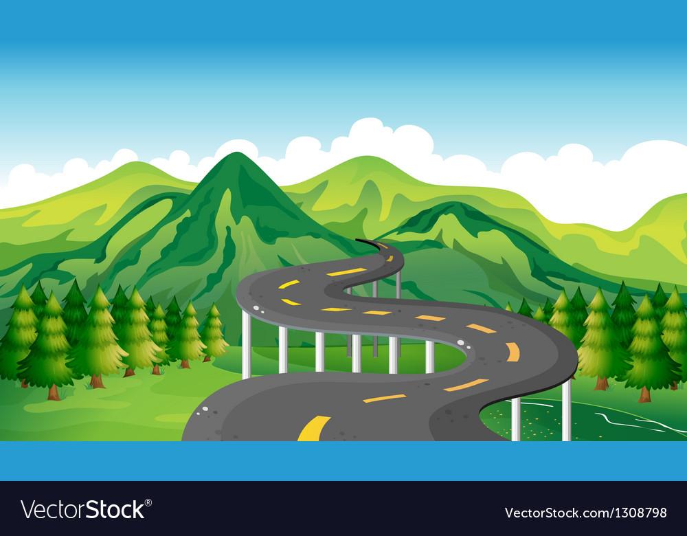 A narrow road vector | Price: 1 Credit (USD $1)