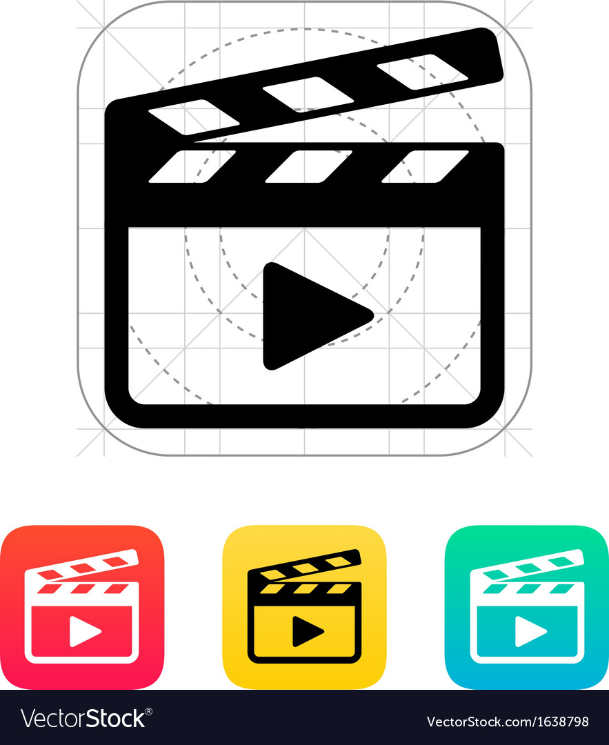 Clapper board icon vector | Price: 1 Credit (USD $1)