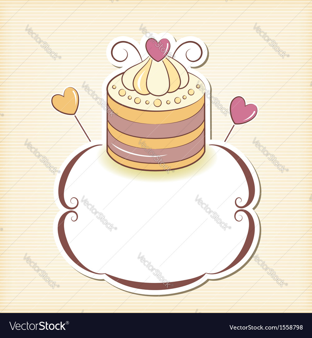 Cute cupcake design frame vector | Price: 1 Credit (USD $1)