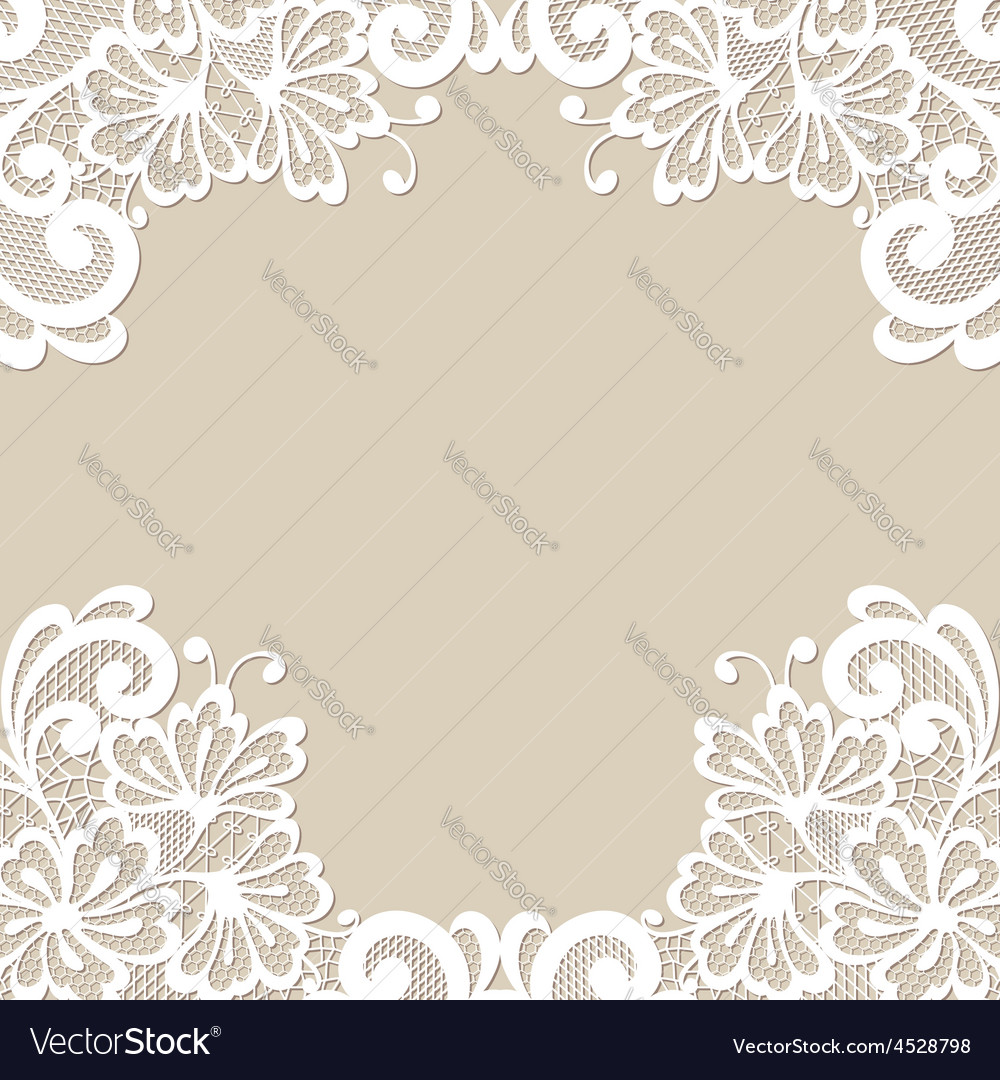 Flower ornament frame vector | Price: 1 Credit (USD $1)