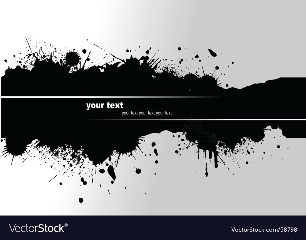 Grunge blot banner vector | Price: 1 Credit (USD $1)