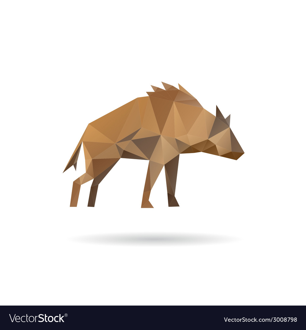 Hyena abstract isolated vector | Price: 1 Credit (USD $1)
