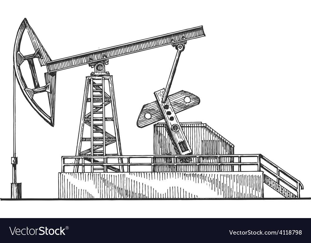 Oil rocking logo design template petroleum vector | Price: 3 Credit (USD $3)
