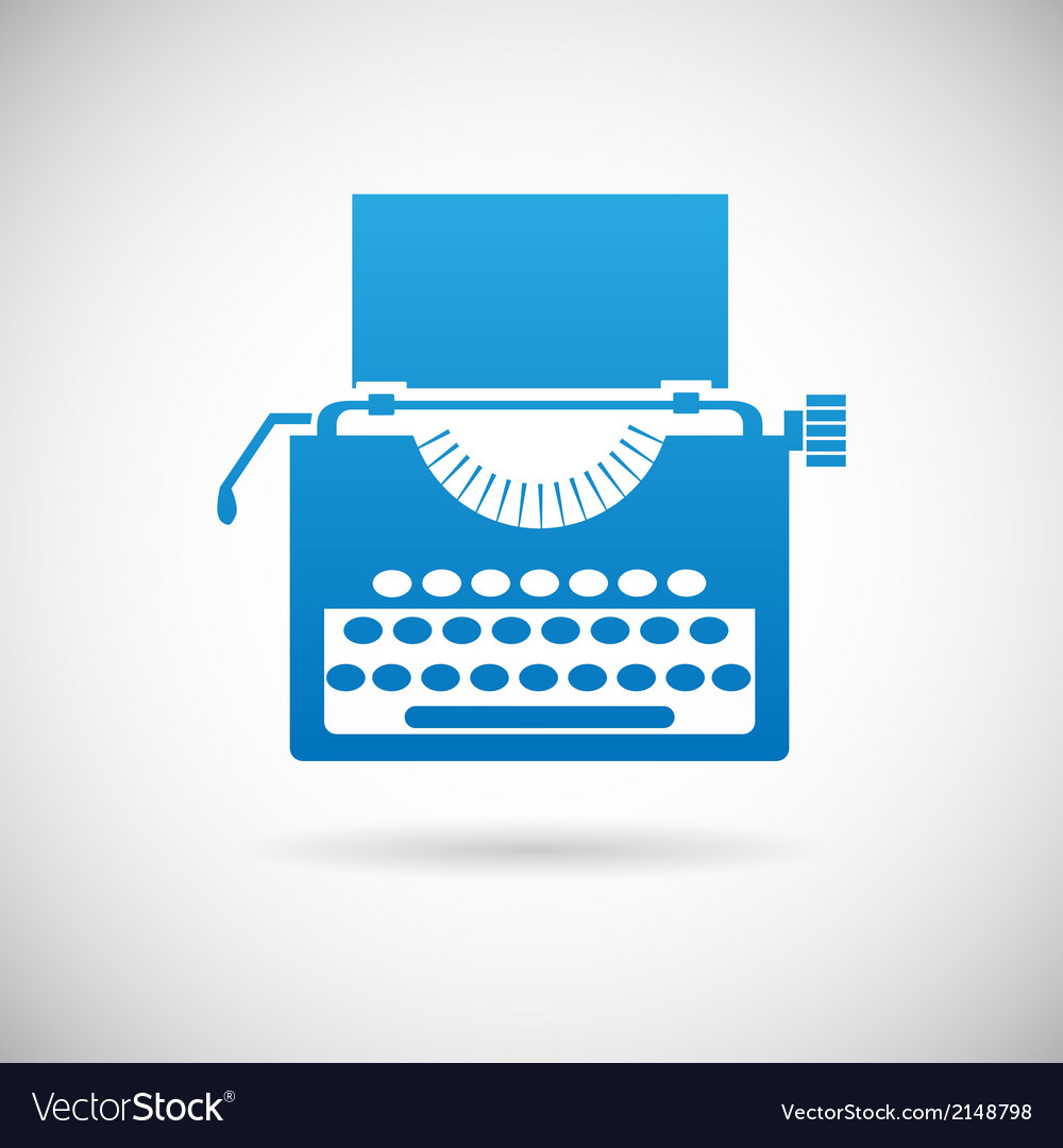Retro vintage creativity symbol typewriter icon vector | Price: 1 Credit (USD $1)