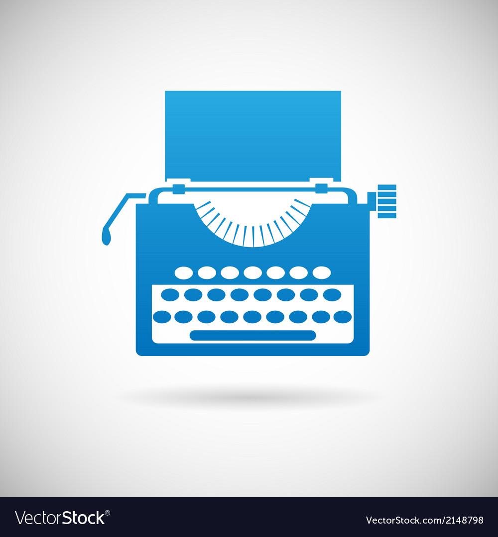 Retro vintage creativity symbol typewriter icon vector | Price: 1 Credit (USD $1)