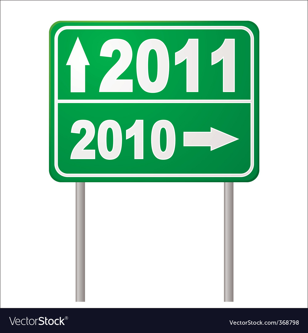 Road sign 2011 vector | Price: 1 Credit (USD $1)