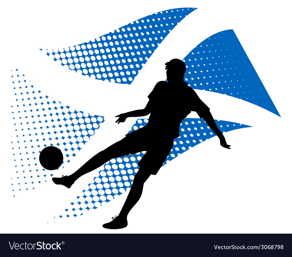 Scotland soccer player against national flag vector | Price: 1 Credit (USD $1)