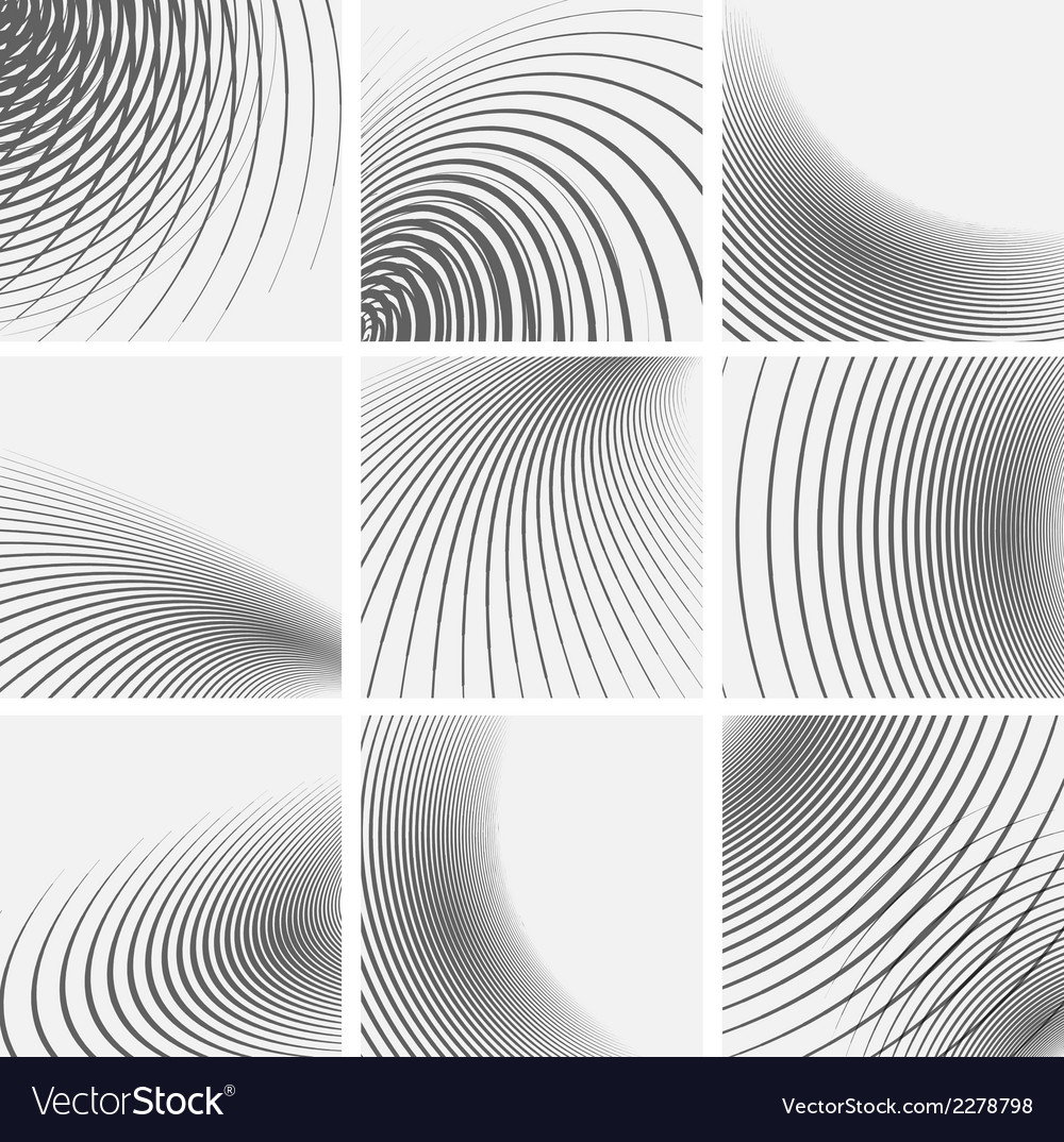 Set of striped abstract forms vector | Price: 1 Credit (USD $1)