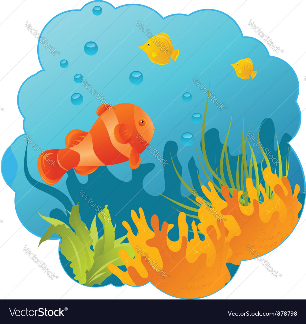 Underwater round vector | Price: 1 Credit (USD $1)