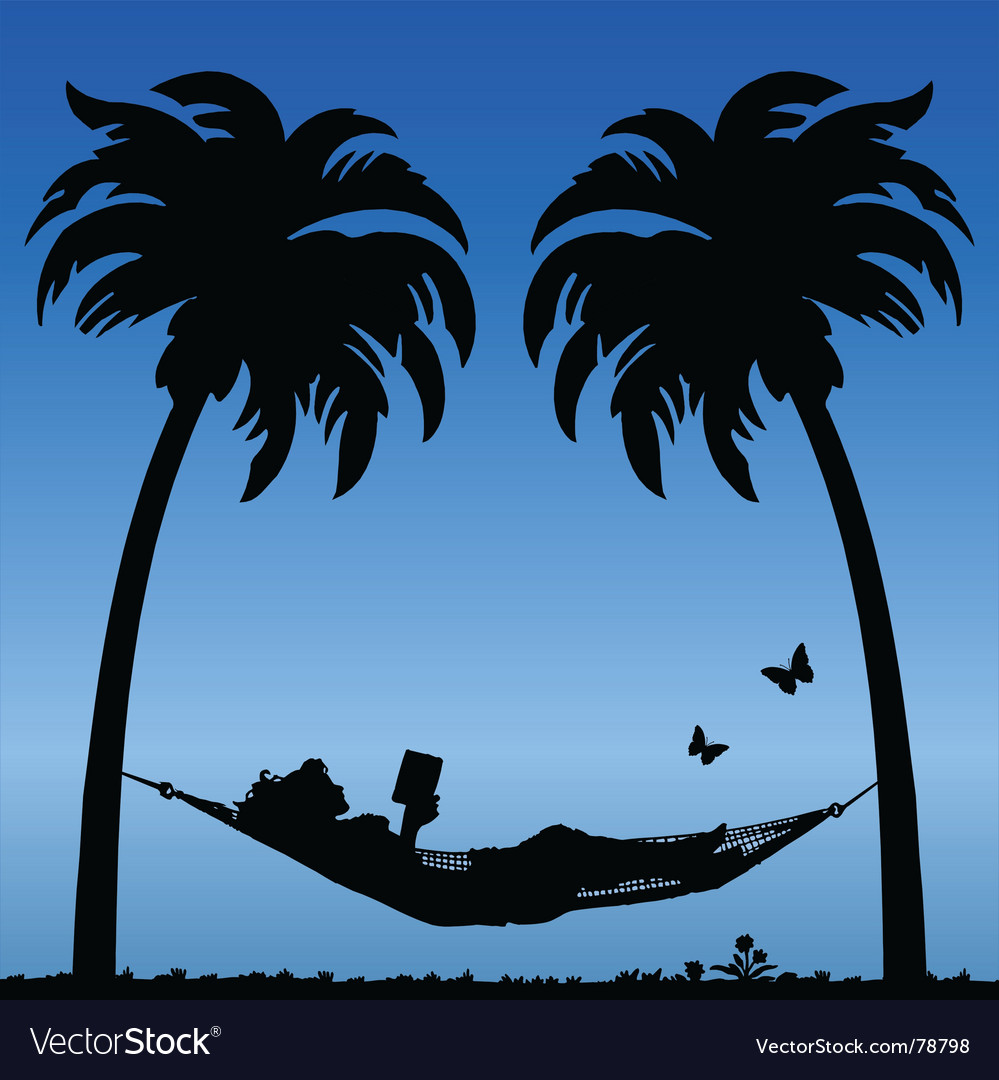 Woman in hammock vector | Price: 1 Credit (USD $1)