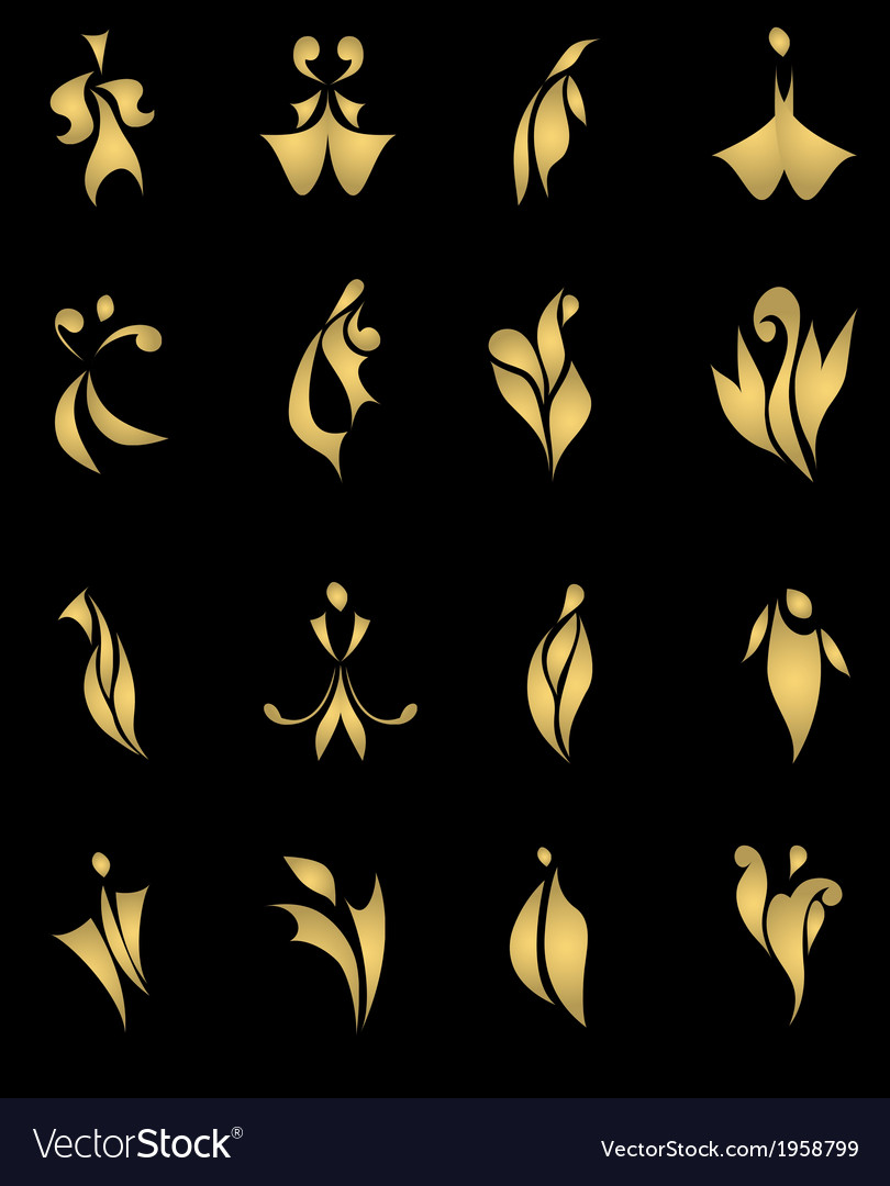 Black vintage abstract gold card vector | Price: 1 Credit (USD $1)