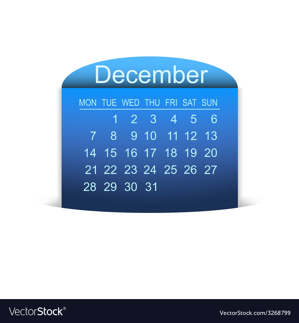 Calendar december 2015 vector | Price: 1 Credit (USD $1)