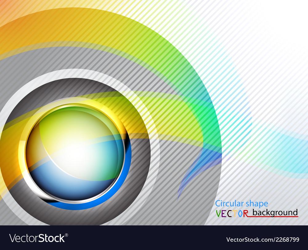 Circular shape abstract background vector