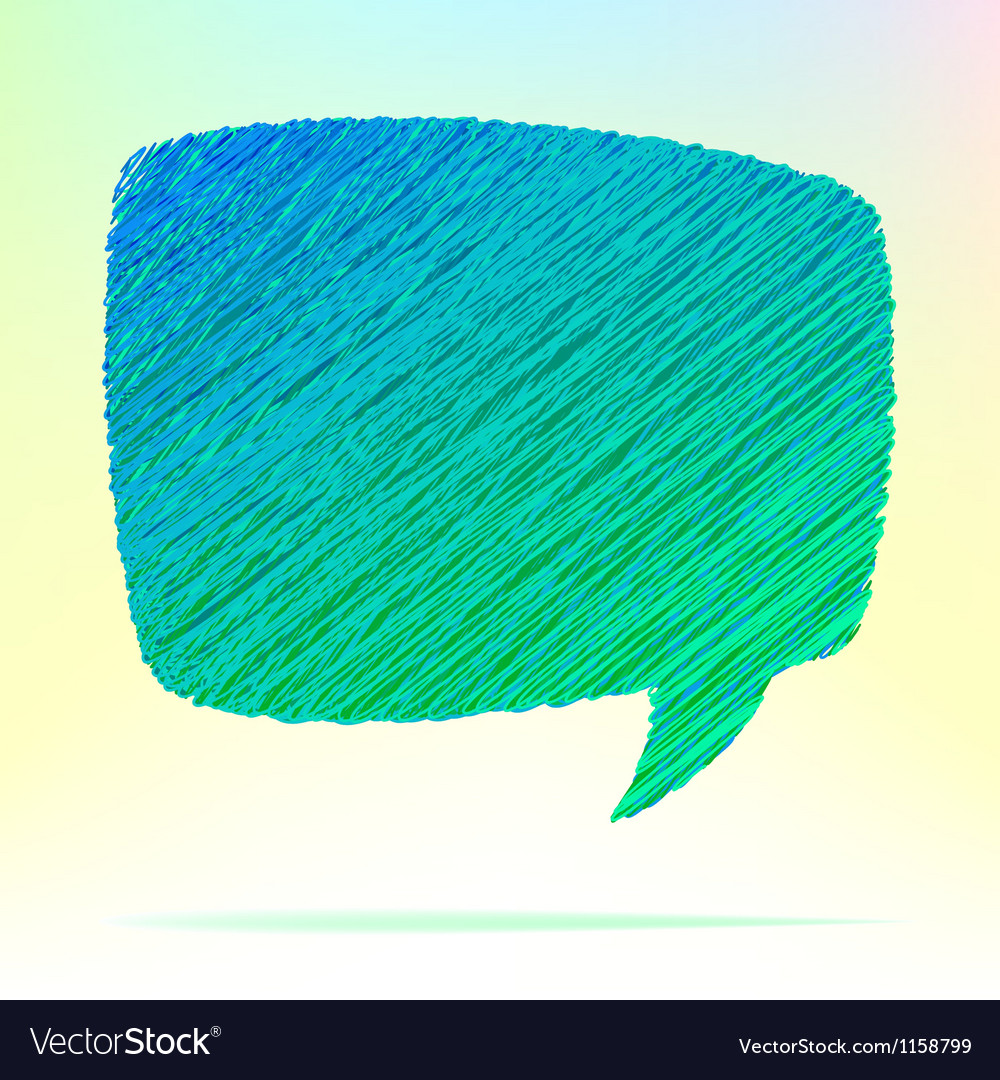 Hand draw speech bubble  eps8 vector | Price: 1 Credit (USD $1)