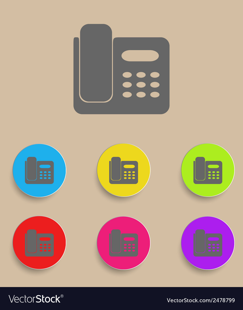 Icon of phone isolated on colourful background vector | Price: 1 Credit (USD $1)