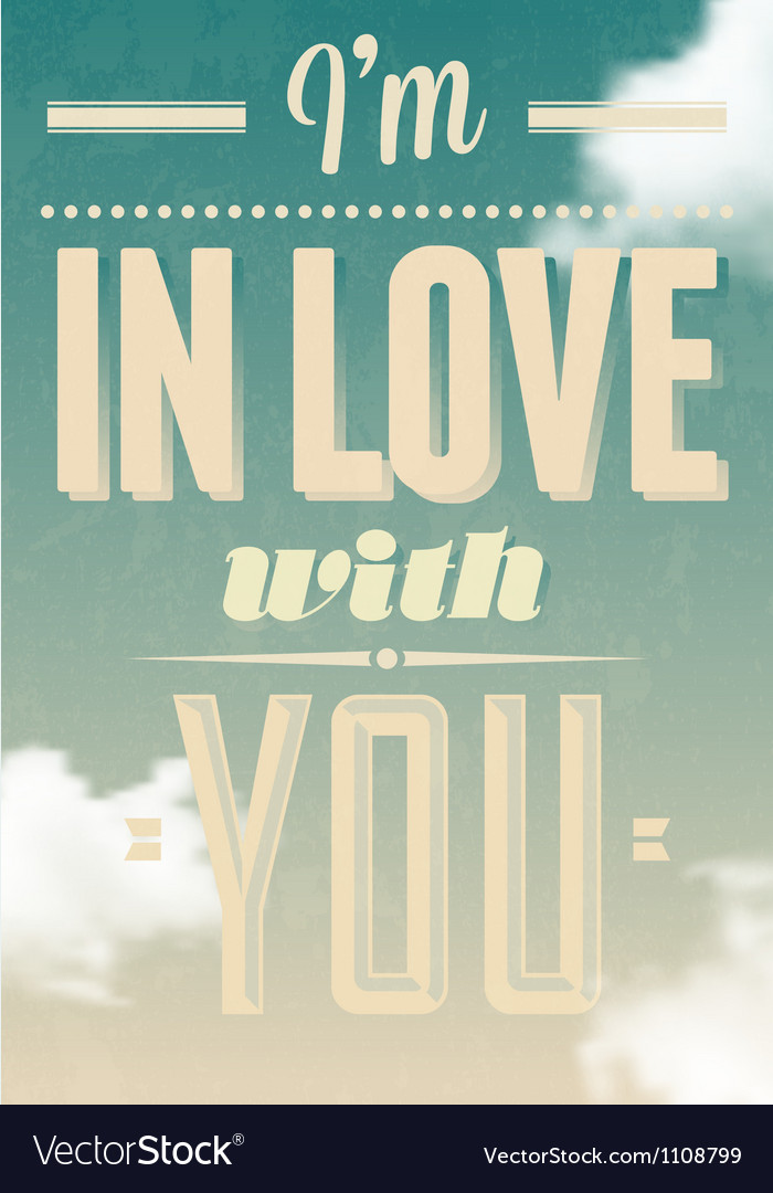 Im in love with you text calligraphic vector | Price: 1 Credit (USD $1)