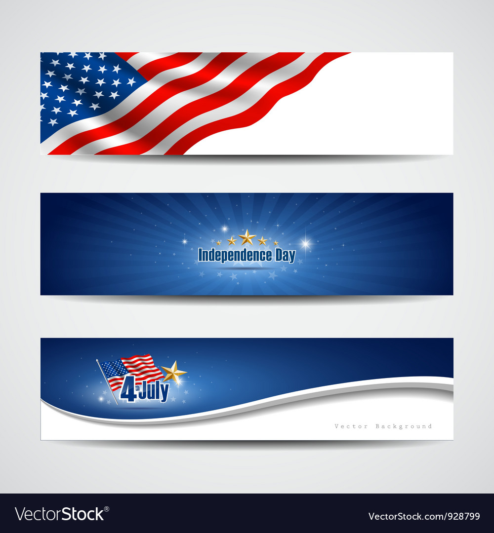 Independence day banner background vector | Price: 3 Credit (USD $3)