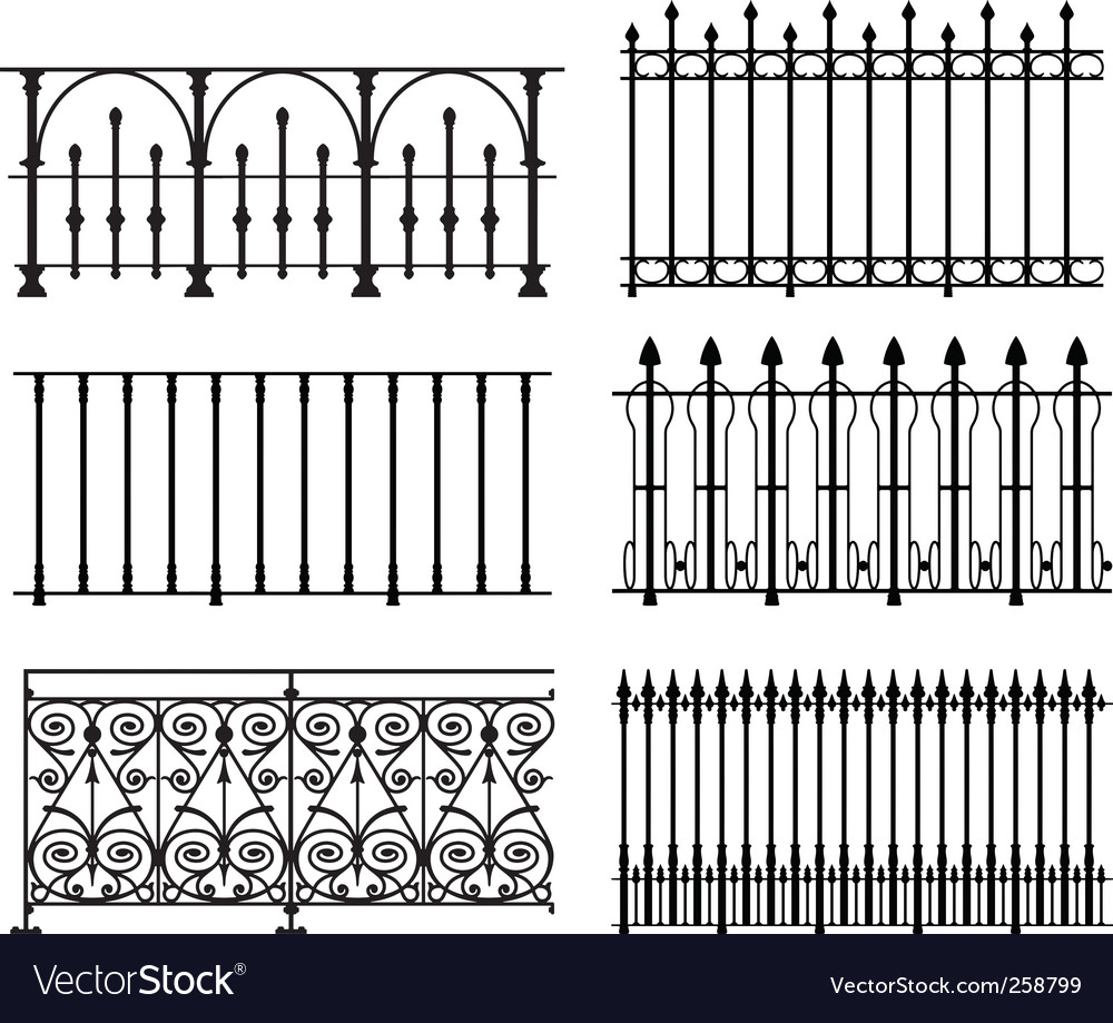 Railings and fences vector | Price: 1 Credit (USD $1)