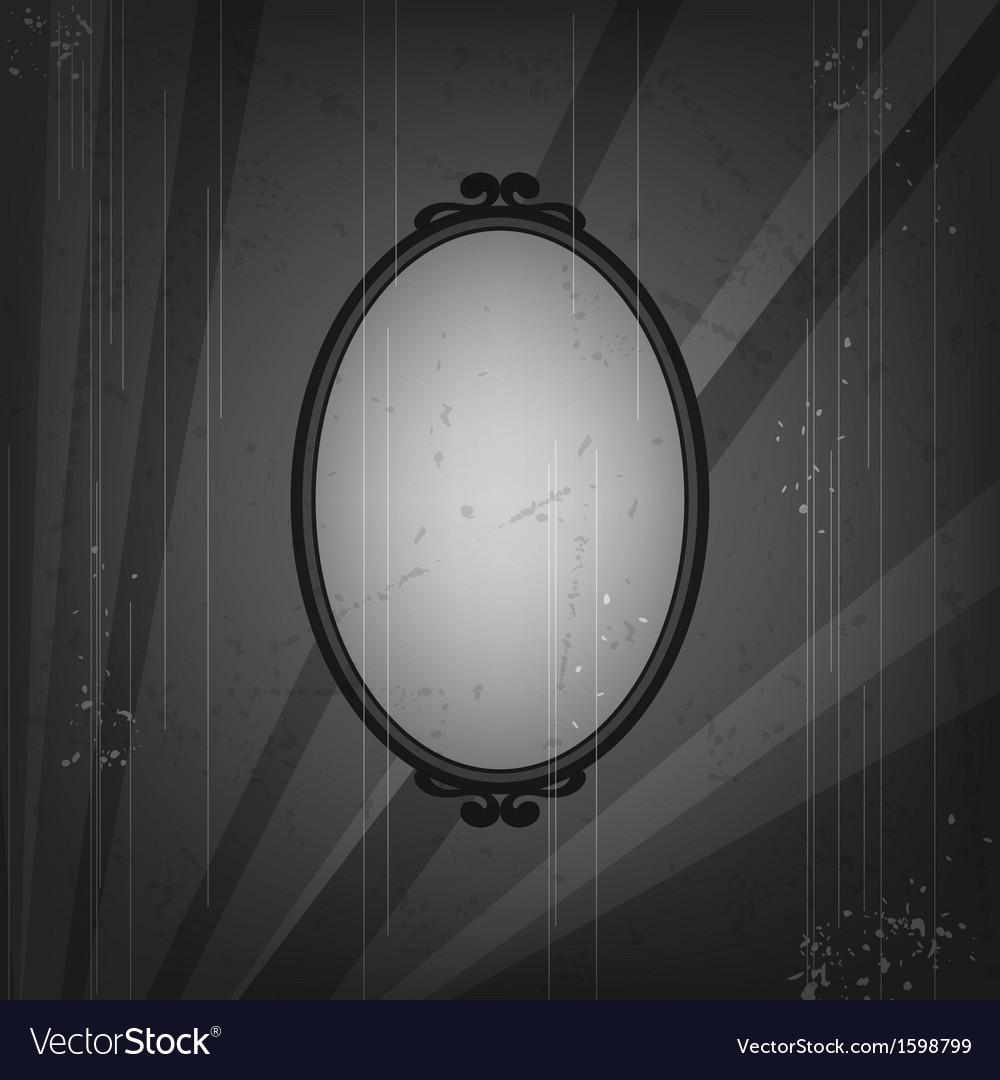 Retro frame on old grunge background vector | Price: 1 Credit (USD $1)