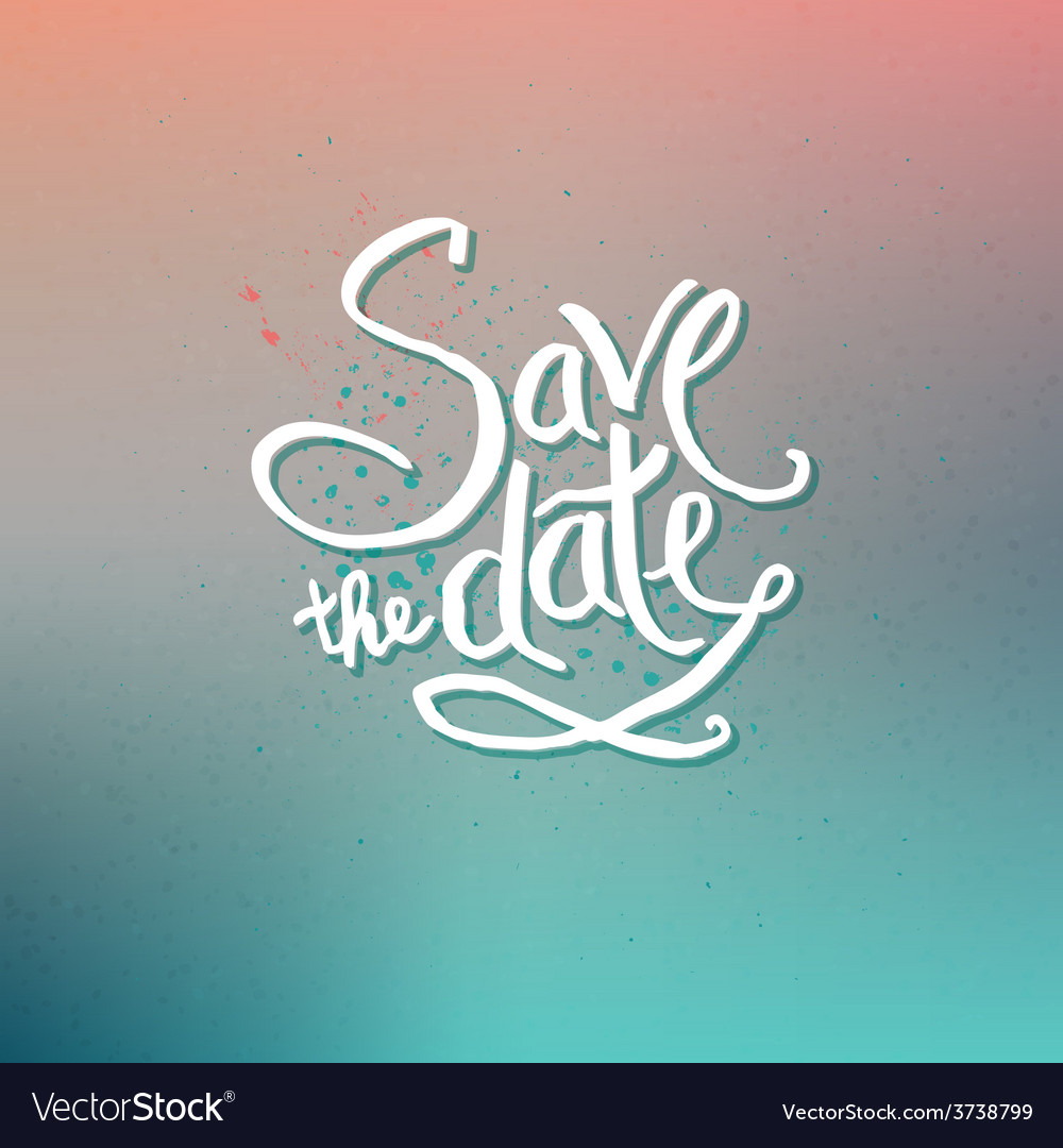 Save the date concept on abstract background vector | Price: 1 Credit (USD $1)