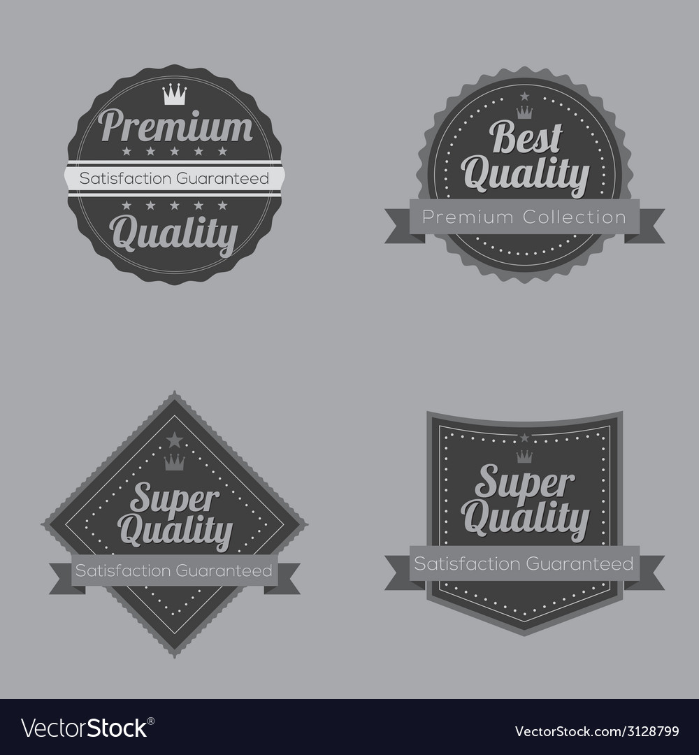 Set of vintage retro badge vector | Price: 1 Credit (USD $1)