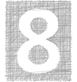 Freehand typography number 8 vector