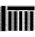 Broken grunge filmstrip vector
