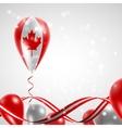 Flag of canada on balloon vector