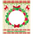 Reindeer christmas card design vector