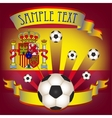 Football poster with spanish flag vector