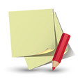 Yellow paper sticker vector