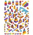 Isometric infographic elements vector