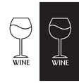 Wine glass design template vector