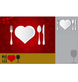 Menu of love vector
