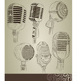 Retro microphone set vector