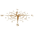 Brown grunge compass compressed vector