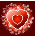 Red valentines heart with sparkles vector