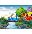 Flying dragons vector