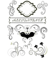 Frames and calligraphic ornaments for feel of page vector