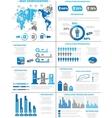 Infographic demographics population 3 blue vector