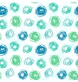 Pattern with brushed circles in spring colors vector