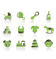 Baby and children icons vector