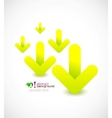 Green arrows abstract background vector