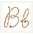 Rope alphabet letter b vector